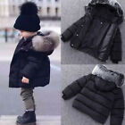 Winter Newborn Baby Girl Boy Cotton Hooded Coat Jacket Warm Zipper Outwear Cloth