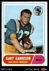 1968 Topps #36 Gary Garrison Chargers EX $1.45 USD