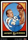1967 Topps #124 Jacque MacKinnon Chargers GOOD $1.0 USD