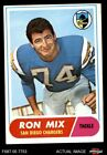 1968 Topps #89 Ron Mix Chargers VG/EX $2.0 USD