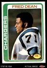 1978 Topps #217 Fred Dean Chargers NM/MT $15.5 USD on eBay