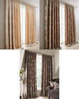 Charley Chenille Tape Top Pair Of Luxury Heavyweight Curtains Floral Jacquard