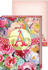 Punch Studio E8 Wildflowers Monogram Mini Pocket Note Pads - Choose Letter