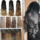 AU Deluxe Thick Clip In Real Thick As Human Hair Extensions Brown Blond Brown TF