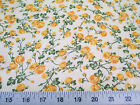 Discount Fabric Quilting Cotton Yellow Rose Floral 406K