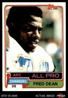 1981 Topps #520 Fred Dean Chargers NM $1.05 USD