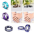 Fashion Men Women Resin Ring Creative Handmade Ink Pattern Lover Ring Jewelry
