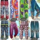 NEW Mens Womens Baggy Harem Pants Trousers Aladdin Hippy Ali Baba Yoga Festival