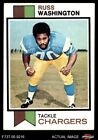 1973 Topps #199 Russ Washington Chargers EX $0.99 USD