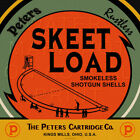 Reproduction Vintage Peters Skeet Load Shotgun Shells  Label Canvas Print