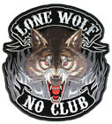 Embroidered Lone Wolf No Club New Large Patch