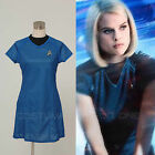 Star Trek Kostüm Into Darkness Damen Uniform Kleid Fasching Cospaly Party Blau