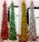 Tinsel Pop Up Christmas Tree 5ft (150cm) & Stand Xmas Decoration Easy Assembly