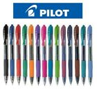 Pilot G2 Pen Retractable Rollerball Gel Ink Smooth Smear Proof Rubber Grip Clip