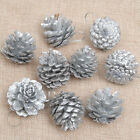 Hot 6/9pcs Christmas Pine Cones Bauble Xmas Tree Party Hanging Decor Ornament