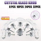 8x/16x/24x/32x 40MM Diamond Clear Crystal Glass Door Cabinet Drawer Knobs Handle
