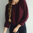 Women Autumn Long Sleeve Pullover Sweater Shirt Ladies Loose Blouse Tops