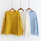 ladies knitted jumper womens sweater pullover striped winter