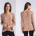 Casual Women's Knit Sweater Knitted Pullover Long Sleeve Round Neck