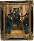 Hovenden The Last Moments of John Brown 1884 Framed Canvas Print Repro 16x20