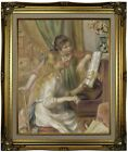 Renoir Young Girls at the Piano 1892 Framed Canvas Print Repro 16x20
