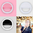 360° Phone Selfie LED Ring Fill Flash Light Clip Photo For iPhone Andriod USA $5.57 USD