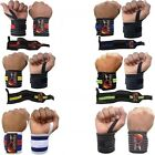 WEIGHT LIFTING GYM TRAINING WRIST SUPPORT BAR STRAPS WRAPS