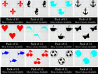 Pack Of 12 Tile Stickers Kitchen Bathroom Vinyl Wall Art Decal Decor