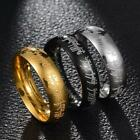 Lord of the Rings The One Ring Lort Band Men's Stainless Steel Ring Unique ED