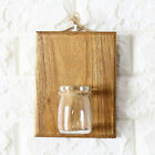 Home Wall Decoration Wooden Wall Hanging Plant Terrarium Glass Planter Container