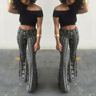 Stylish Summer Women's Casual BOHO printed Micro Fiber Flare Pants Trouser S-XL