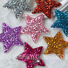 Внешний вид - 10PCS Mixed Gold Powder Star Cabochon Flatback Cartoon DIY Craft Decoration 39mm