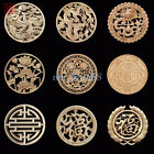 1PC Wood Carved Round Onlay Applique Unpainted Furniture Cabinet Door Wall Decor