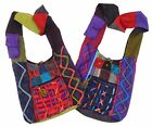 FAIR TRADE COTTON PATCHWORK & RAZOR CUT HIPPY BOHO FESTIVAL SHOULDER TRAVEL BAG