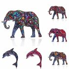Beauty Fashion Printing Pattern Elephant Pin Brooch Womens Jewellery Party Gift
