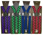 New unisex Chess  Boys Girl color Braces Suspenders Elasticated Adjustable 25mm