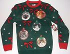 New Ugly Sweater cat ornament Christmas Sweater men's sizes Ugly Sweater cats