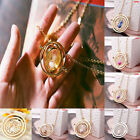 Harry Potter Time Turner Necklace Hermione Granger Rotating Spins Gold Hourglass $1.19 USD