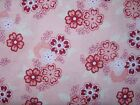 Raspberry Parlour Larger Flowers on Pink 100% cotton fabric from Riley Blake