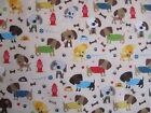 Cartoon Dogs on Cream from Riley Blake's Rover collection of 100% cotton fabric