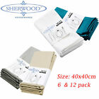table napkins cotton - 100% Cotton Napkins 15'' x 15'' Hotel Wedding Party Dinner Table Cloth 6/12 Pack
