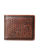 Montana West Genuine Tooled Leather, Phone Charging Men's Wallet