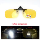 Night Vision Clip-on Spectacle Lens Sunglasses Driving Fishing Golf Yellow