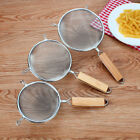 Stainless Steel Wire Mesh Strainer With Wooden Handle Kitchen Oil Filter Useful