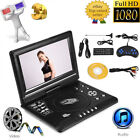 "9.8"" TFT Portable DVD Player Rechargeable Swivel Screen FM TV Game SD MMC USB CO"