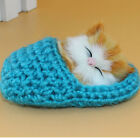 Cat Kitten Soft Plush Doll Toys Sound Stuffed Slipper Animal Baby Kids Fun Cute