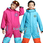 Boy Girl Winter Ski Suit Waterproof Warm Hooded Jumpsuit Thicken Snow Suit New