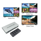 HDMI Switcher 1080P 4x1 Audio Video QUAD Splitter Multiviewer Remote Set