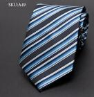 Men Tie Business Fashion Striped Jacquard Wedding dress Ties shirt Accessories