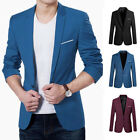 New Men's Slim Fit Stylish Formal Casual One Button Suit Blazers Coat Jacket Hot
